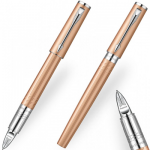 Parker Ingenuity Small Pink Gold Chrome trim Pen