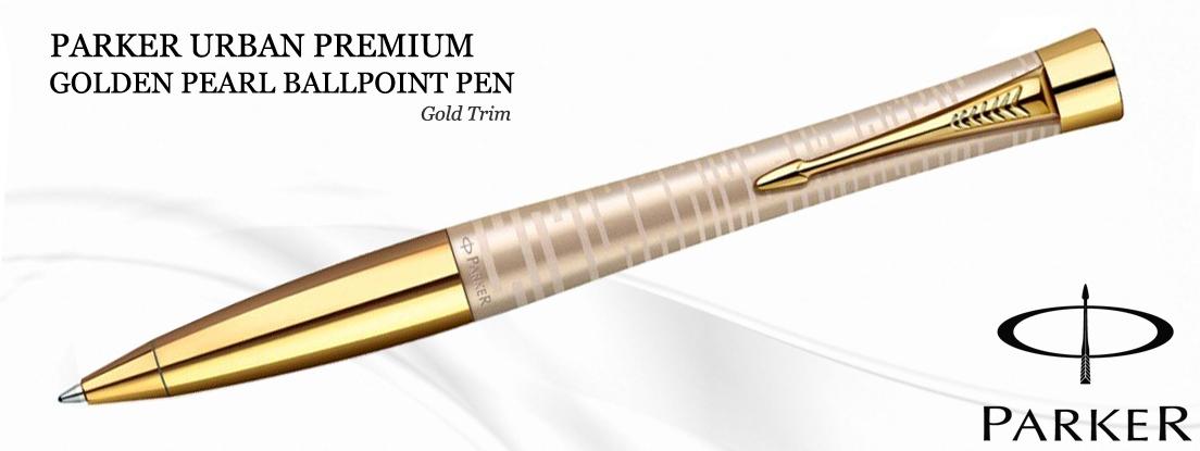 Parker Urban Premium Golden Pearl Ballpoint Pen