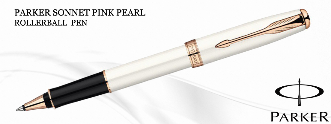 Parker Sonnet Pink Pearl Rollerball Pen