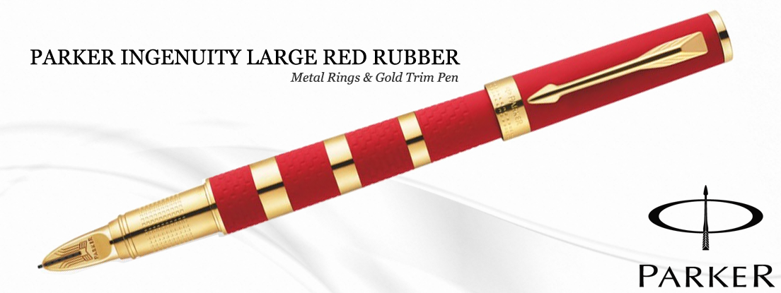 Parker Ingenuity Red and Gold Ring Pen