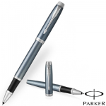 Parker IM Rollerball PensThe New Parker IM Light Blue Grey Chrome Trim Roller Ball Pen