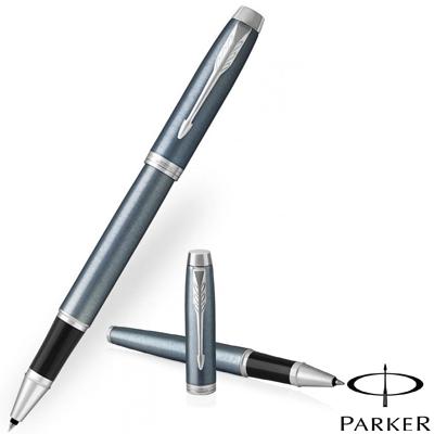 Parker IM Rollerball PensThe New Parker IM Light Blue Grey Chrome Trim Roller Ball Pen