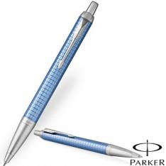 Parker IM Premium Blue Chrome Trim Ballpoint Pen new