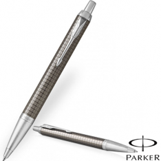 Parker IM Premium Dark Espresso Chrome Trim Ballpoint Pen new