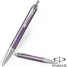 Parker IM Premium Dark Violet Chrome Trim Ballpoint Pen new