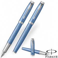 Parker Im Premium Blue Chrome Trim Fountain Pen