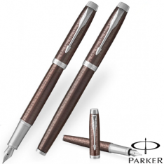 Parker Im Premium Brown Chrome Trim Fountain Pen