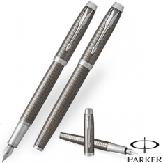 Parker Im Premium Dark Espresso Chrome Trim Fountain Pen