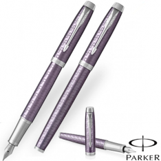 Parker Im Premium Dark Violet Chrome Trim Fountain Pen