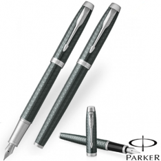 Parker Im Premium Pale Green Chrome Trim Fountain Pen
